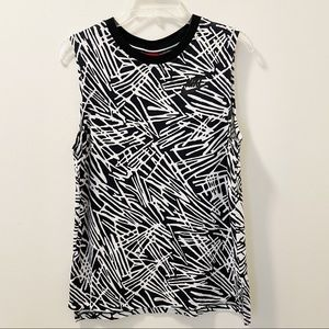 Nike Abstract Printed Muscle Tank Top - Size Small